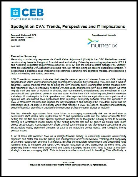 CEB TowerGroup Special Report - Spotlight on CVA